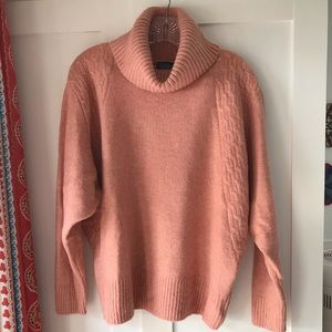TOPSHOP Plush Turtleneck, Rose
